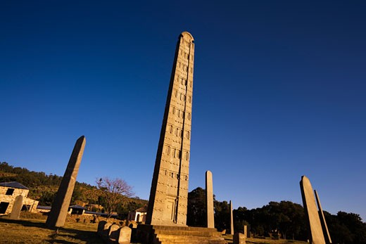 Obelisk in the Morning Sun Axum Ethiopia : Stock Photo