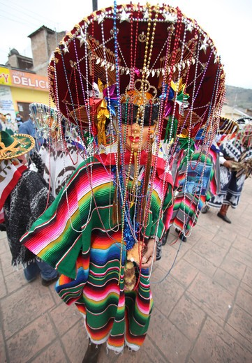 Mexico, Chiapas, Las Rosas, Carnival in indigenous Tzeltal village : Stock Photo