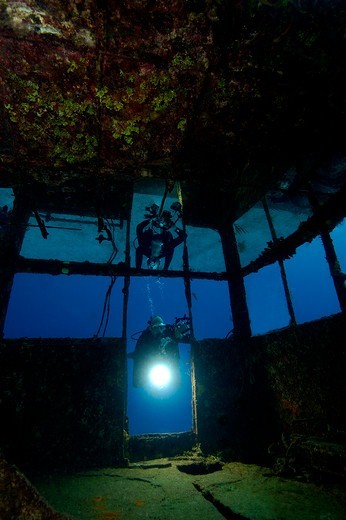 Grand Cayman, Doc Poulson Wreck : Stock Photo