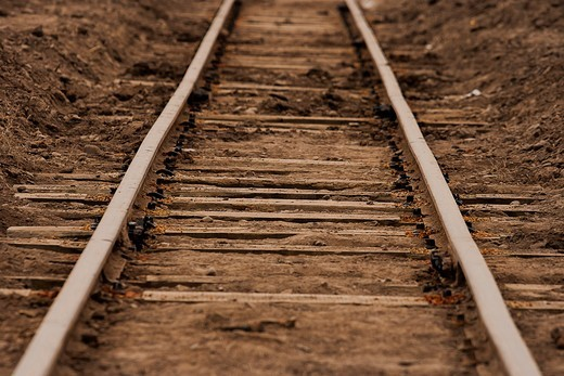 Argentina, Salta, Repairing railroad tracks : Stock Photo