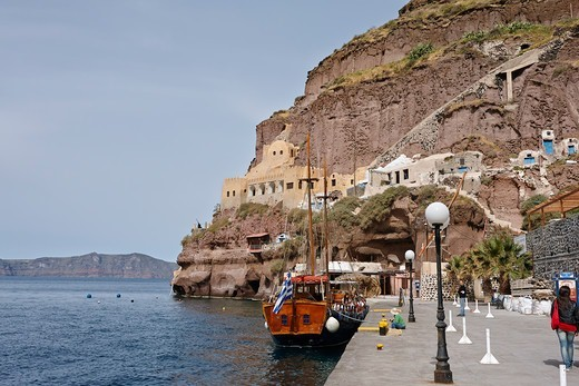 Stock Photo: 1916-7844 Greece, Santorini, Fira, Port