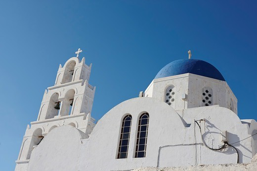 Stock Photo: 1916-7846 Greece, Santorini, Pyrgos Kallistis, Church