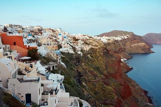 Stock Photo: 1916-7851 Greece, Santorini, Oia, View from Oia Fortress