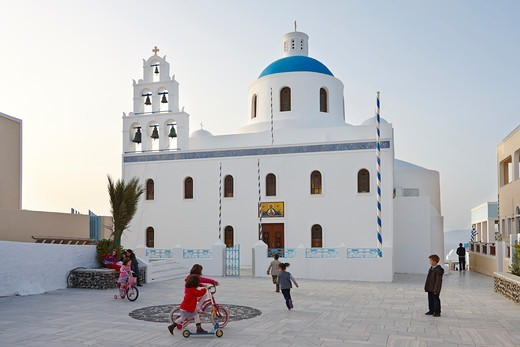 Church of Panagia Platsani, Oia, Santorini, Greece : Stock Photo