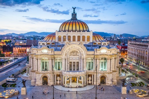 Stock Photo: 1916-9457 Palacio de Bellas Artes, Mexico City, Mexico