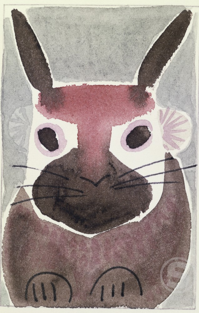 Rabbit  Diana Ong (b.1940 Chinese-American) Ink and watercolor Private Collection : Stock Photo