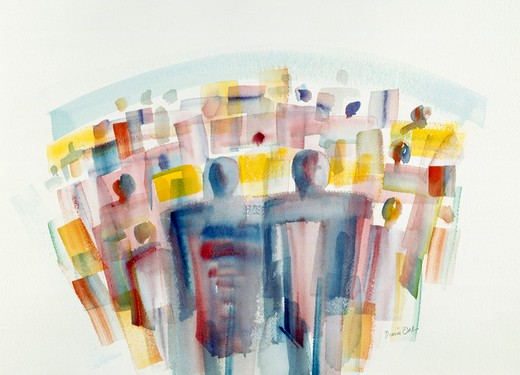 Stock Photo: 192-434 Violet Crowd