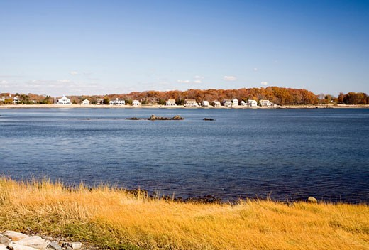 Sherwood Island State Park from Compo Beach  CT  USA : Stock Photo