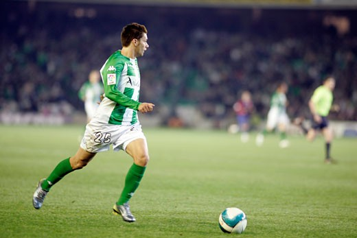 Stock Photo: 1925-1591 Sobis  Real Betis forward Taken at Ruiz de Lopera stadium Seville  Spain  during the Spanish Liga game between Real Betis and FC Barcelona which took place on 24 January 2007 The final score was 1 1