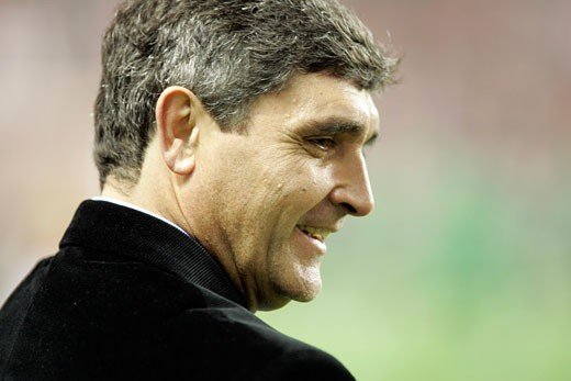 Stock Photo: 1925-1632 Juande Ramos  Sevilla FC coach Taken at Sanchez Pizjuan stadium Seville  Spain  on 1 February 2007  during the local derby between Sevilla FC and Real Betis