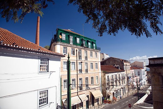 Stock Photo: 1925-1678 Escolas Gerais street  Alfama  Lisbon
