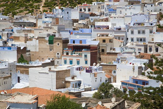Stock Photo: 1925-1909 Panoramic view of Chefchaouen  Morocco