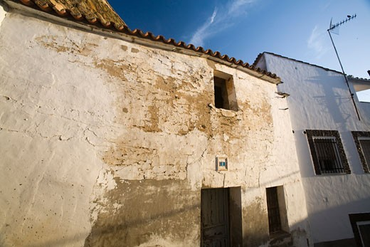 Jewish quarter streets  town of Alcantara  province of Caceres  autonomous community of Extremadura  southwestern Spain : Stock Photo