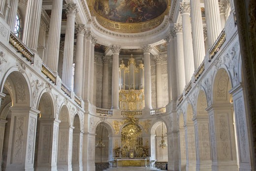 Stock Photo: 1927-2791 Royal Chapel in the Palace of Versailles Versailles France