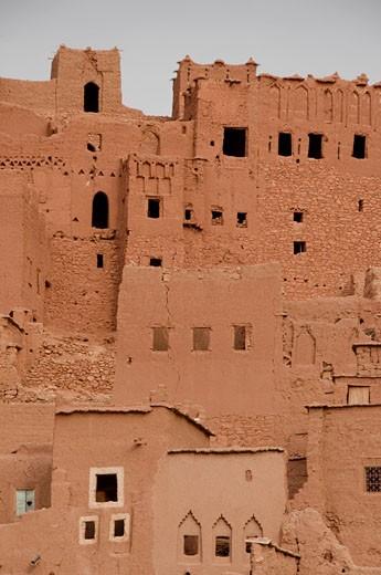 Kasbah of Ait Benhaddou views UNESCO World Heritage Centre Ouarzazate Morocco : Stock Photo