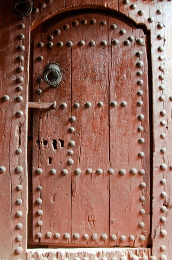 Old traditional door in Agdz Kasbah Draa Valley Morocco : Stock Photo