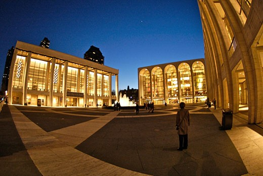 Stock Photo: 1933-4880 The Lincoln Center at twilight
