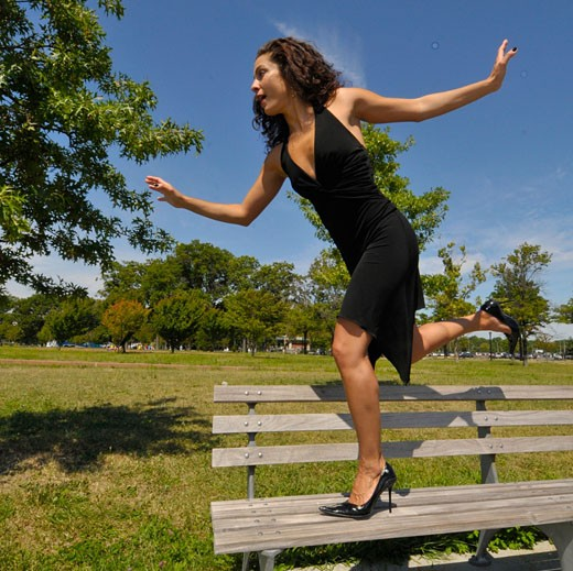 picture of a italian descent actress and dancer in Flushing Meadow Park in Queens : Stock Photo