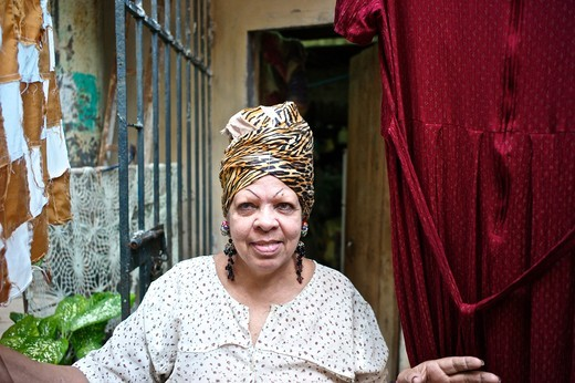 Stock Photo: 1933-7120 Cuba, Havana, Old Havana, Portrait of Cuban woman