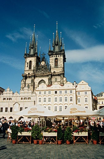 Kostel Panny Marie Pred Tynem Church of Our Lady Before Tyn Tyn Church Prague Czech Republic : Stock Photo