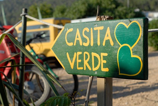 Stock Photo: 1938-1609 A day at Greenheart s La Casita Verde the little green house is a rapidly evolving model ecological centre visited by around 5000 people each year Ibiza  Spain