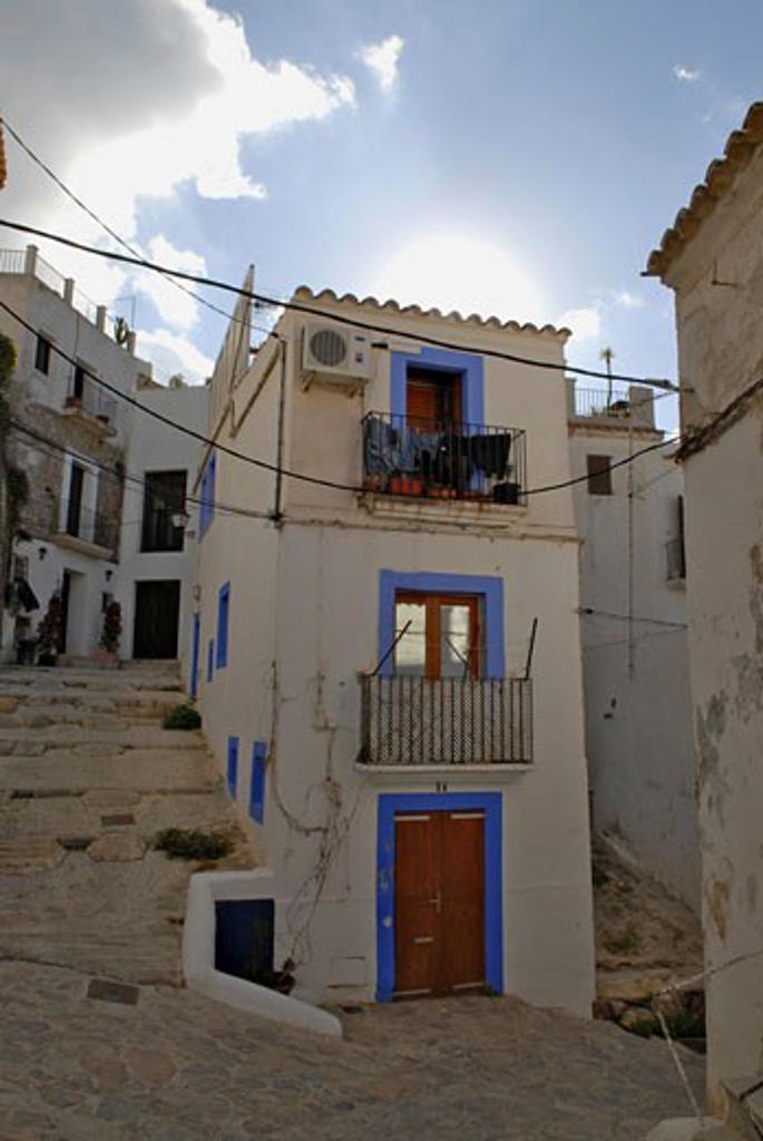 Stock Photo: 1938-2006 Houses of Dalt Vila  Ibiza