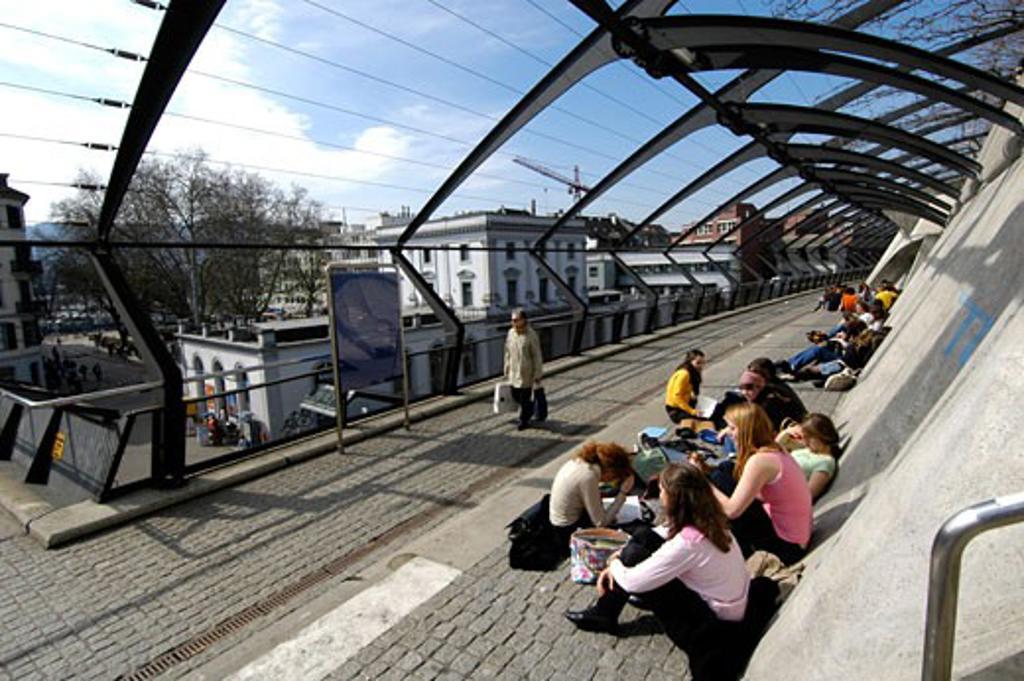 Stock Photo: 1938-2819 Stadelhofen Station in Zurich Switzerland
