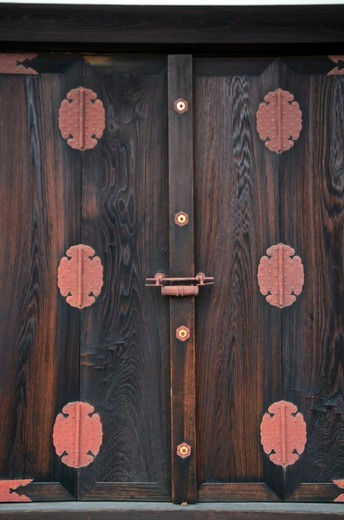 Stock Photo: 1938-3458 Closed door of a palace, Kyoto Imperial Palace, Kyoto Prefecture, Honshu, Japan