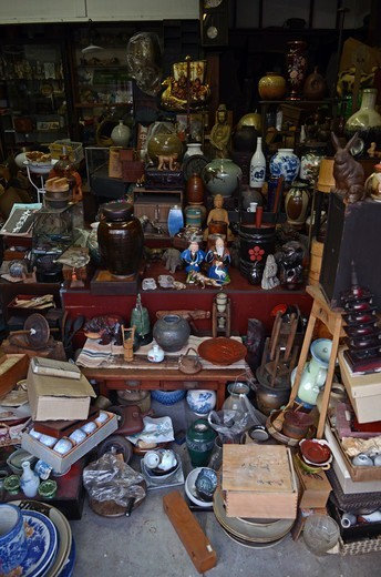 Antiques shop, Nikko, Tochigi Prefecture, Kanto Region, Honshu, Japan : Stock Photo
