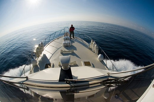 Cruising at daylight Strait Gibraltar North Atlantic Ocean Spain : Stock Photo