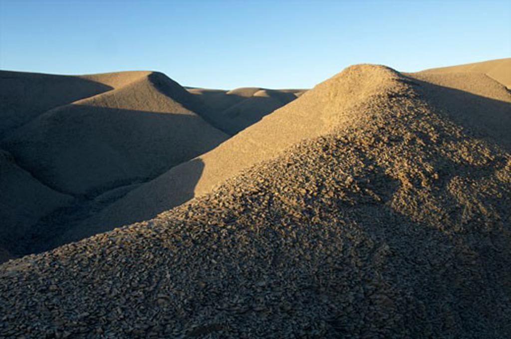 Loam landscape Artieda around Yesa Dam Pyrenees La Jacetania Zaragoza Arago n Spain : Stock Photo
