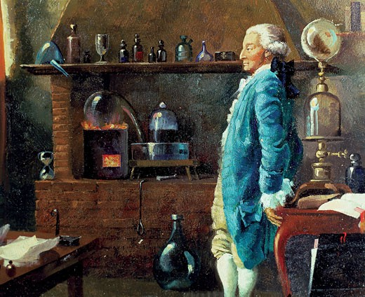 LAVOISIER ANTOINE LAURENT DE PARIS 1743-1794 French Chemist who created the Modern Chemistry : Stock Photo