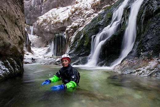 Canyoning in Kalkalpen National Park  Lime Alps  Upperaustria  Austria : Stock Photo