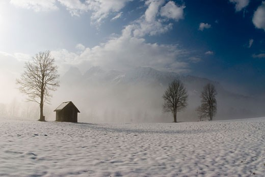Stock Photo: 1947-1356 Foggy austrian landscapes