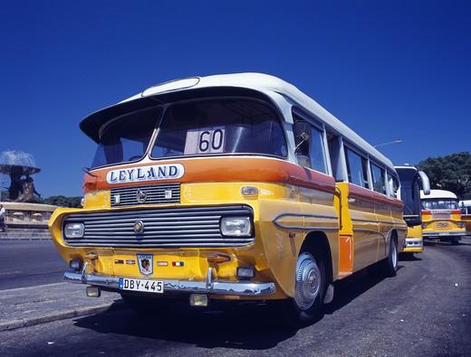 Valletta, Old Yellow Bus : Stock Photo