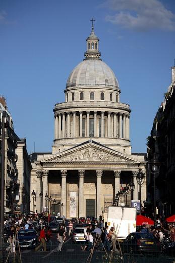 Facade of a mausoleum, Pantheon Paris, Paris, Ile-de-France, France : Stock Photo