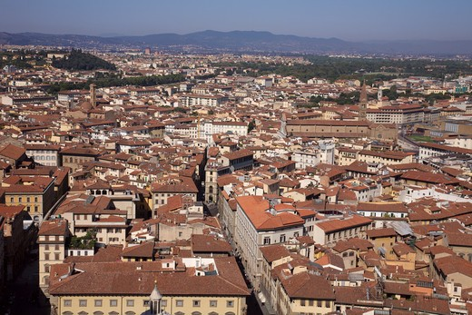 High angle view of a cityscape, Florence, Italy : Stock Photo