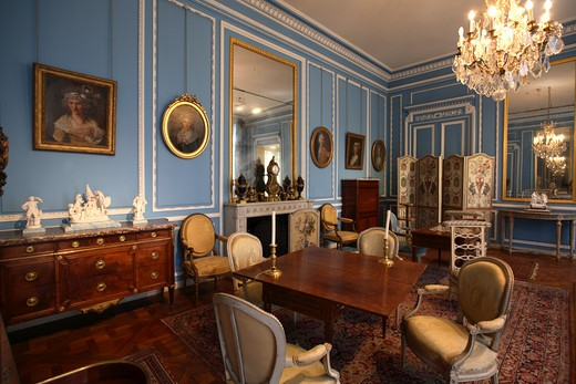 Interiors of a museum, Carnavalet Museum, Paris, Ile-de-France, France : Stock Photo