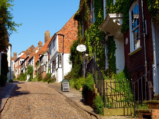 UK, Sussex, Mermaid Street Rye : Stock Photo