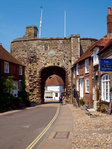 UK, Sussex,  Rye, Hilder's Cliff,  landgate : Stock Photo