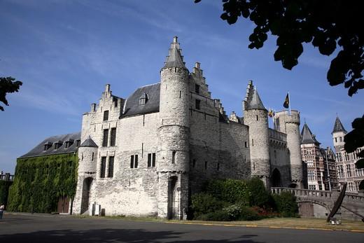 Belgium, Antwerp Province, Antwerp, Het Steen Castle, Maritime Museum : Stock Photo