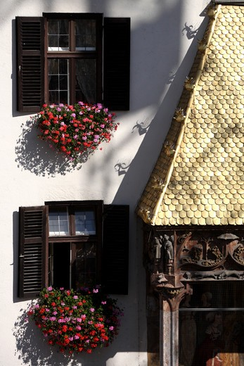 Austria, Tyrol, Innsbruck, The Golden Roof in old town : Stock Photo