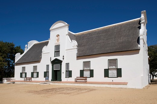The Cape-dutch Manor House At Groot Constantia Wine Estate In Cape Town, South Africa. : Stock Photo