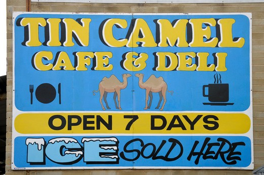 Tin Camel Sign In Norseman Wa Australia : Stock Photo