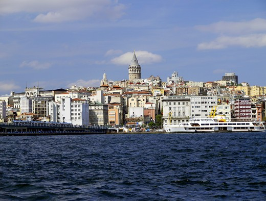 Galata District Skyline, Istanbul : Stock Photo