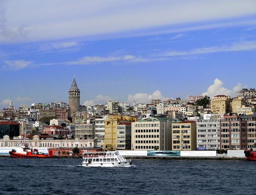 Galata District Skyline, Istanbul : Stock Photo