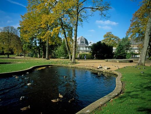 Peak District, Buxton, Pavilion Gardens : Stock Photo