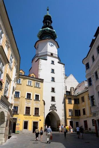 Bratislava, St Michael's gate : Stock Photo