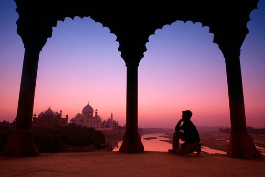 Agra, Taj Mahal : Stock Photo