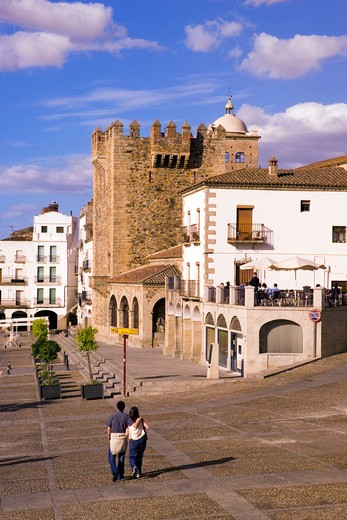 Extramadura, Caceres, Plaza Mayor : Stock Photo